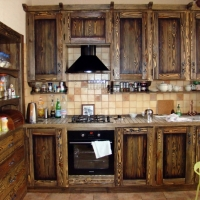 Кухня из черненного черева