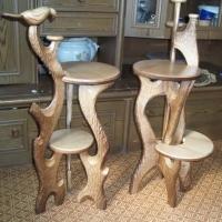 Барные стулья резные