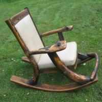 Кресло-качалка с обжигом